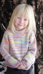 Knitting Pure and Simple - Children's Neckdown Pullover
