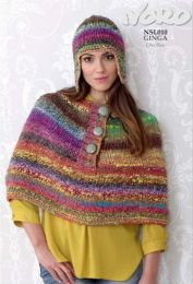 Shoulder Wrap, Cowl and Helmet Pattern - Free with purchase of 5 or more skeins of Noro Ginga