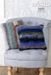 Cable and Moss Stitch Cushions Pattern - Free with purchase of 3 or more skeins of Noro Ginga