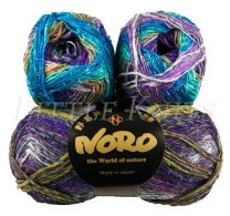 Noro Silk Garden Sock - Color Purples, Green,Grey #411
