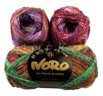 Noro Silk Garden Sock - Peach, Pink, Purple (Color #415)