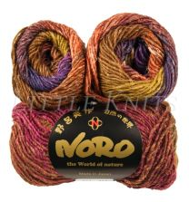 Noro Silk Garden - Browns, Magenta, Purple (Color #423)
