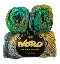 Noro Silk Garden - Greens, Coral, Ink (Color #426)