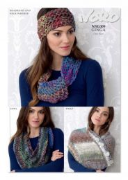 Wrap, Headband, Neckwarmer & Cowl (Free Download with a Noro Ginga purchase of 2 or more skeins)