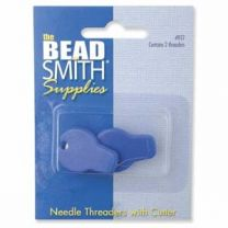 Beadsmith Needle Threader with Cutter - 2 pieces in Orange (Item #NT2)