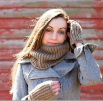 Old Salty Cowl & Hand Warmers - Free Download with Stratus Purchase of Two or More Skeins