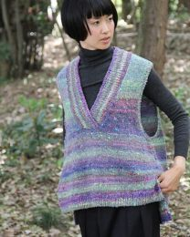 Oversized Asymmetrical Vest (Free Download with Noro Kotori Purchase of 5 or more skeins)