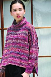 Oversized Textured Pullover (Free Download with Noro Kotori Purchase of 5 or more skeins)