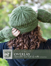 Overlay Reversible Lace Hat and Mitts