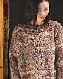 Oversized Cable Top - Free with Noro Kiso purchase of 4 or more skeins