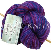 Cascade Heritage Silk Hand Paints - Violets (Color #9995)