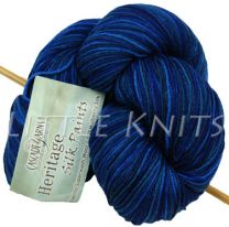 Cascade Heritage Silk Hand Paints - Deep Water (Color #9996)
