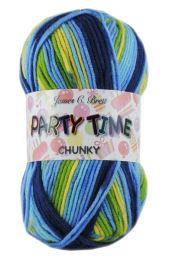 James C Brett Party Time Chunky - Sunny Lagoon (Color #002)