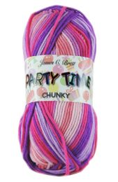 James C Brett Party Time Chunky - Pink Flamingo (Color #003)