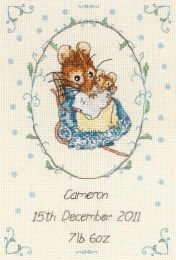 !NEW Anchor Counted Cross Stitch Kit - Peter Rabbit Beatrix Potter (JC219 Birth Record)