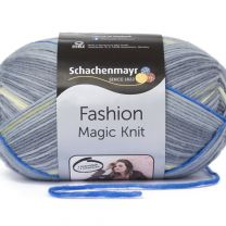 Schachenmayr Magic Knit - Fashion Grey Stripe (Color #81) - FULL BAG SALE (5 Skeins)