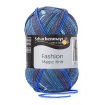 Schachenmayr Fashion Magic Knit - Blue Stripe (Color #84) - FULL BAG SALE (5 Skeins)