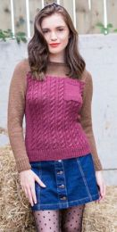 Primrose Cable Jumper - Free with WYS Yarn Purchase (One Free Pattern Per Purchase/Person Please)