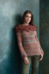 Pullover with Origami Collar - Free with Noro Kiso purchase of 4 or more skeins