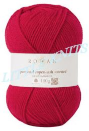 Rowan Pure Wool Superwash Worsted  - Red (Color #136)