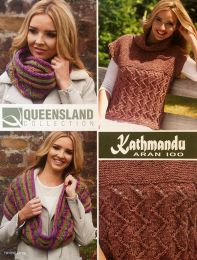 Birgit Jumper & Lisa Double Cowl Patterns - Free with purchase of 2 or more skeins of Queensland Kathmandu