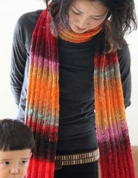 Ribbed Scarf - Free with Purchase of 2 Skeins of Noro Kureopatora (PDF File)