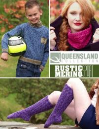 Knee Socks, Cowl, Pullover Pattern - Free with purchase of 4 or more skeins of Queensland Rustic Merino Sport