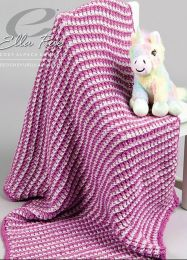 Rosa Blanket - FREE WITH PURCHASES OF 7 SKEINS OF COZY SOFT CHUNKY (PDF File)
