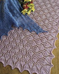 Fiber Trends - Flower Basket Lace Scarf & Shawls - 3 to 5 Skeins of Geilsk Tweed