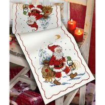 Anchor Counted Cross Stitch Kit - Santa and Sledge Runner