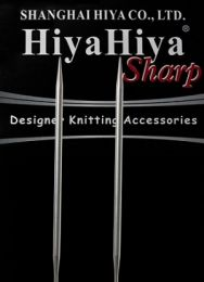 US 15 - 40'' HiyaHiya SHARP Steel Circular Needles - Size 15 U.S. (10 mm)