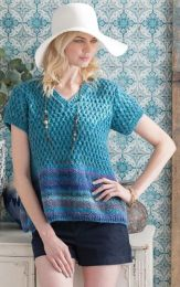 Color Block Tee - Free with Purchases of 5 Skeins of Noro SIlk Garden (Pdf File)