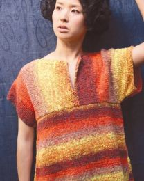 Short Sleeve Pullover (Free Download with Noro Kagayaki Purchase of 5 or more skeins)