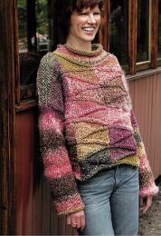 Revisited: Transitions by Cornelia Hamilton - Skeppta Sweater (Free with 5 or more skeins of Noro Transitions)