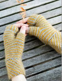 Slanty Bias-Knit Cowl and Mitts - A Juniper Moon Stargazer Pattern - FREE WITH PURCHASES OF 2 OR MORE SKEINS OF Stargazer (PDF File)