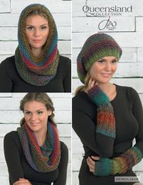Snood, Slouchy Hat & Fingerless Gloves - Free with Purchase of 6 Skeins of Queensland Brisbane (PDF File)