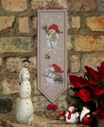 Anchor Idena Collection Cross Stitch Kit - Snowman Wall Hanging