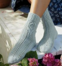 Regia Premium Silk - Socks with Diamond Pattern - FREE PATTERN LINK TO DOWNLOAD IN DESCRIPTION (No Need to add to Cart)