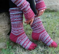 Regia Premium Silk - Socks with Norwegian Pattern - FREE PATTERN LINK TO DOWNLOAD IN DESCRIPTION (No Need to add to Cart)