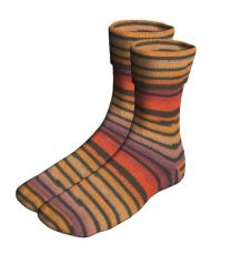 Lang Jawoll Twin Soxx - Lava Stripe (Color #189)