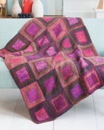 Square-in-a-Square Blanket (Free Download with Noro Kagayaki Purchase of 5 or more skeins)