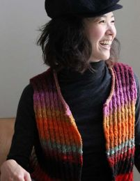 Stepped Waistcoat - Free with Purchase of 3 Skeins of Noro Kureopatora (PDF File)