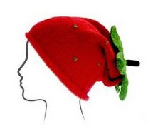 Euro Baby Fruits & Veggies Hat Kits - Strawberry (Color #03) - Knitting Pattern