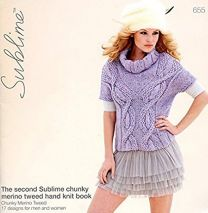 Sublime Booklet 655 - Chunky Merino Tweed Hand Knit Book