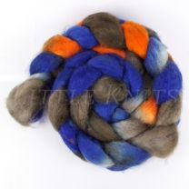 DragonFibers Superwash Blue Face Leicester - Indian Leaf Butterfly