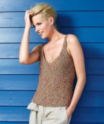 Ladies Tank Top - A Rosas Pattern