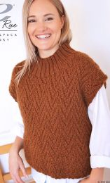 Saffron Top  - A Cozy Alpaca Chunky Pattern - FREE WITH PURCHASES OF 6 SKEINS OF COZY ALPACA CHUNKY