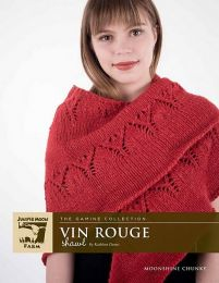 Vin Rouge Shawl - Made with Moonshine (a Downloadable pattern - Emailed at the time of shipment)