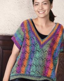 V-Neck Pullover (Free Download with Noro Kagayaki Purchase of 5 or more skeins)
