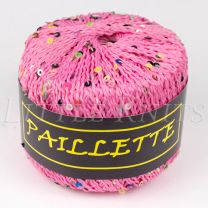 Knitting Fever Paillette - Pink (Color #10) - FULL BAG SALE (5 Skeins)